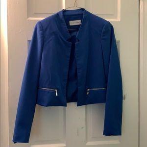 Blue Calvin Klein Blazer with Zipper Detail